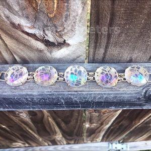 Kendra Scott Clear Iridescent Cassie Bracelet